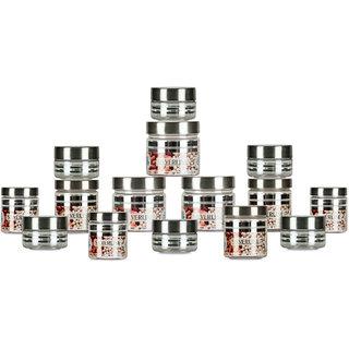 GPET Silver Line Container  Pack of 18  50ml 4pcs 100ml 6 pc 200 ml 6 pcs 300 ml 2 pcs