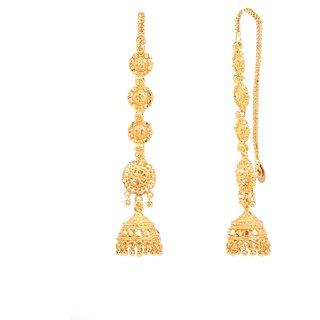 Pretty wedding style kaan chain jhumki earrings by GoldNera