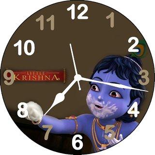 3d krishna ladoo brown5 wall clock