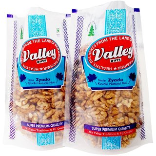 Valleynuts Premium Kashmiri Brown Walnut Kernells 400 Grams