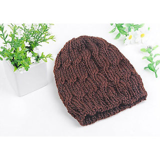 Modo Vivendi Winter Knitted Crochet Beanie Cap Stylish Lifestyle Woolen Caps