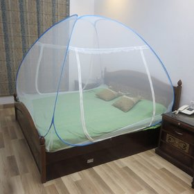 Healthgenie Blue Mosquito Net Double Bed Foldable