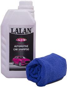 Lalan ACS - Automotive Car Shampoo + Lalan Microfibre Cloth (Pack of 2 nos.)