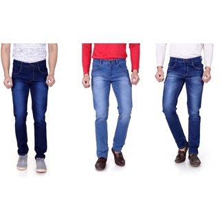 Ragzo Men's Slim Fit Multicolor Jeans