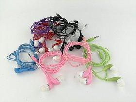 Lazywindow Set of 5 Best Quality coloured Earphones