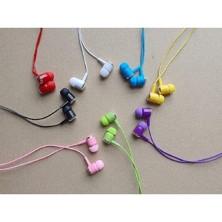 Lazywindow Set of 5 Best Quality coloured Earphones