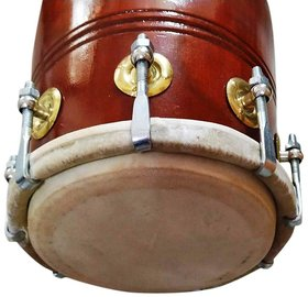 dholak with nut bolt made by best mango wood and use hand made pudi