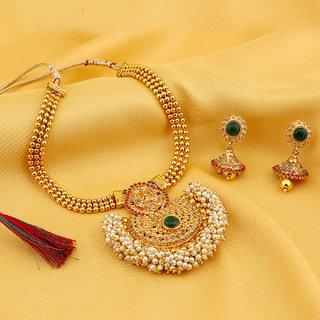 Sukkhi Shimmering Gold Plated Necklace Set For Women