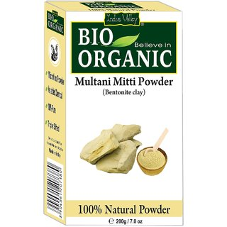 Indus Valley BIO Believe-in-Organic Multani Mitti Powder (Fine Powder for Ubtan)