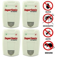 pack of 4 supersonic electronic insect and pest control machine japanese technology