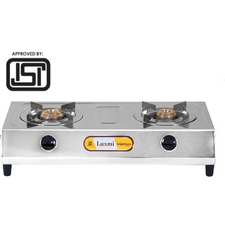 Brightflame ISI Marked 2 Burner Stainless Steel Gas Stove Lakshmi - SS