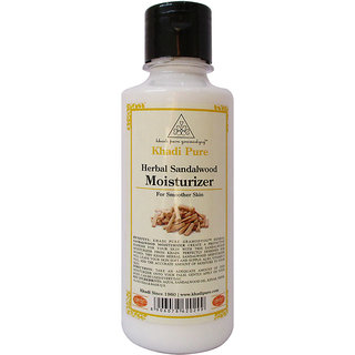 Khadi Pure Herbal Sandalwood Moisturizer 210ml