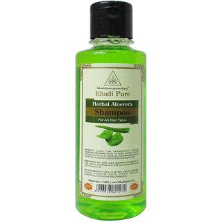 Khadi Pure Herbal Aloevera Shampoo - 210ml