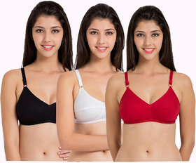 Sonai fashion multi color women seamless bra pack of 3