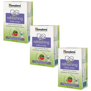 Himalaya Refreshing Baby Soap (125gm) (Pack Of 3)