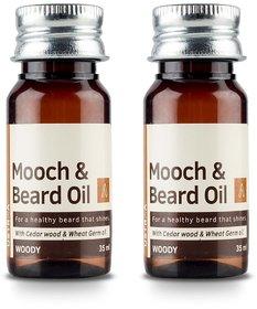 Ustraa Mooch  Beard Oil (Set of 2)  (70 ml)