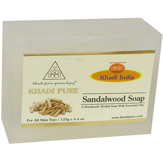 Khadi Pure Herbal Sandalwood Soap - 125g