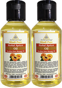 Khadi Pure Herbal Apricot Oil - 100ml (Set of 2)