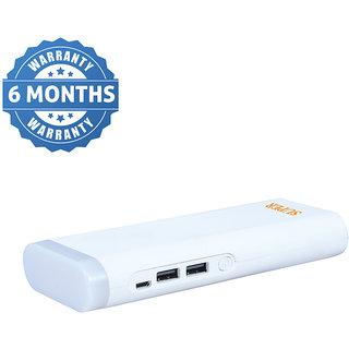 Orenics tall torch with 2 USB ports 20000 mah power bank (white)