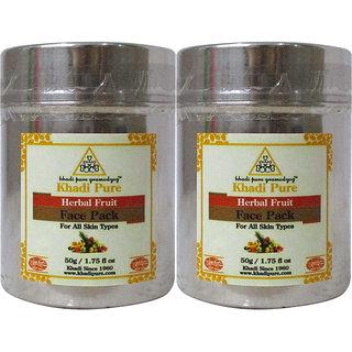 Khadi Pure Herbal Fruit Face Pack - 50g (Set of 2)