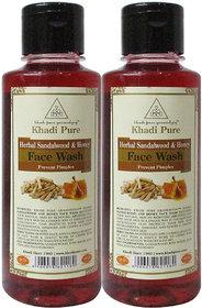 Khadi Pure Herbal Sandalwood  Honey Face Wash - 210ml (Set of 2)