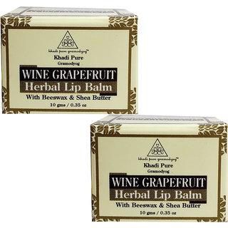Khadi Pure Herbal Wine Grape Fruit Lip Balm - 10g (Set of 2)