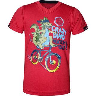 Kothari Stylish Boys Red TShirt