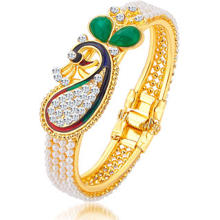 Gold Plated Bangles For Women by Sukkhi