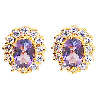 attractive amethyst cluster earring (special seasons offer don't miss)