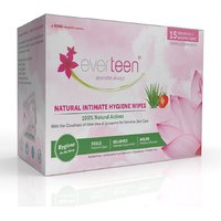 everteen Natural Intimate Hygiene Wipes Individually Wrapped - 1x15pcs