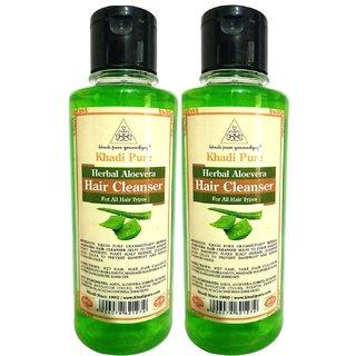 Khadi Pure Herbal Aloevera Shampoo - 210ml (Set of 2)