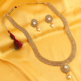 Sukkhi Stunning Jalebi Gold Plated Necklace Set For Women