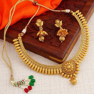 Sukkhi Elegant Gold Plated Necklace Set For Women