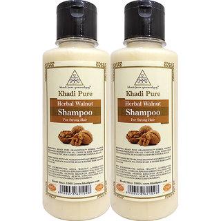 Khadi Pure Herbal Walnut Shampoo - 210ml (Set of 2)