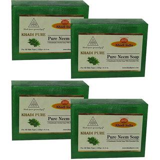 Khadi Pure Herbal Pure Neem Soap - 125g (Set of 4)