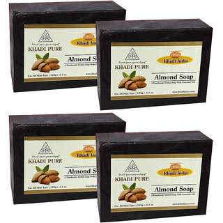 Khadi Pure Herbal Almond Soap - 125g (Set of 4)