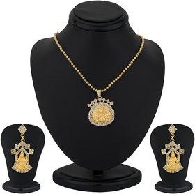 Sukkhi Gold Plated Lord Lakshmi Pendant Set - Option 2