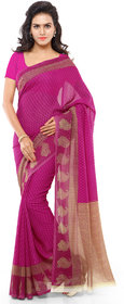 Anand Sarees Pink Georgette Printed Saree With Blouse ( 1168_3 )