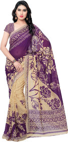 Anand Sarees Multicolor Georgette Printed Saree With Blouse
