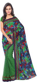 Anand Sarees Green Georgette Printed Saree With Blouse ( 1107_1 )