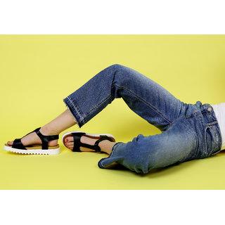 Estatos T Strap Open Toe Buckle Closure Black,White,Brown Coloured Formal Flat Sandal