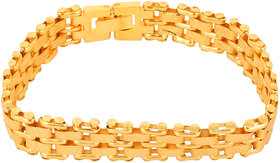 Goldnera Stylish Yo Yo Gold Plated Men's Adjustable Bracelet