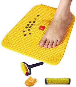 Acupressure Power Mat 2000 with Magnet, Copper  Pyramids for Pain Relief and Total Health Useful for Heel Pain - Knee P