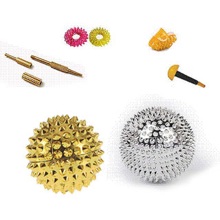 Acupressure New Magnetic Needled Ball Set of 2  With Full Sujok Kit For Fitness and Pain relief Exercise