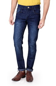 Ragzo Men's Stretchable Slim Fit Brown Jeans