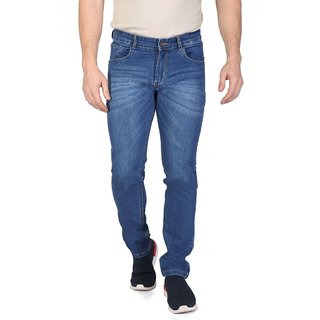 Ragzo Men's Stretchable Regular Fit Blue Jeans
