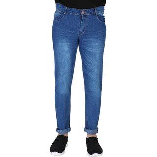 Ragzo Men's Stretchable Regular Fit Blue Jeans