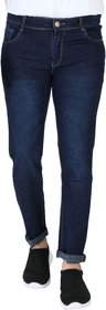 Ragzo Men's Stretchable Regular Fit Green Jeans