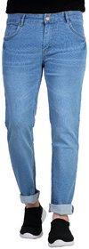 Ragzo Men's Stretchable Slim Fit Blue Jeans