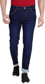Ragzo Men Navy Low Rise Slim Fit Jeans